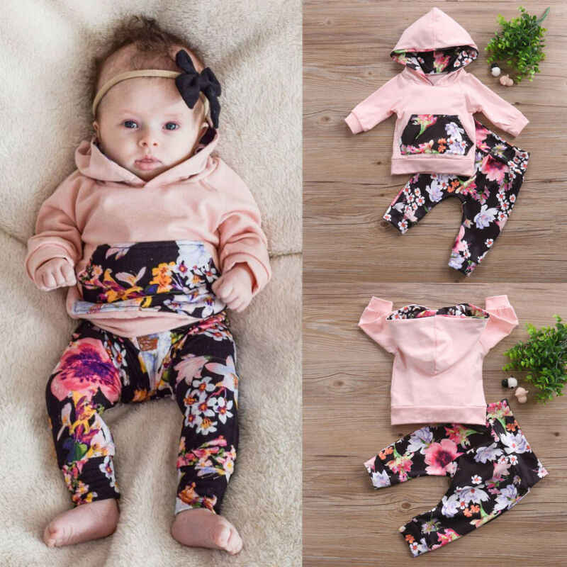 UK Toddler Kids Baby Girls Ruffle Tops Leopard Pants Leggings Clothes Tracksuit