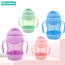 Medoboo Baby Water Bottle Feeding Cup Cartoon Leakproof Gourd Children Infant Drinker Sippy Accessories Training