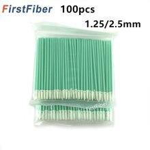 Волоконно-оптические чистящие палочки волоконно-оптические тампоны для 1,25 мм/2,5 мм LC/SC/FC/ST разъемы/адаптеры, 100 шт. волоконно-чистящие стержни