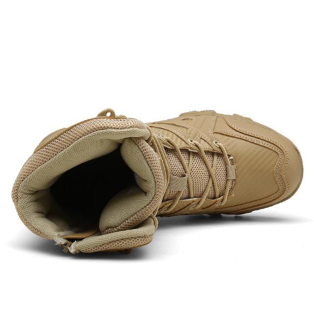 Botas militares de cuero de moda para hombres de combate del desierto de invierno 2019 botas