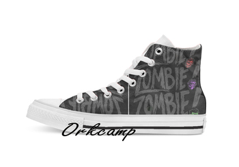 Zombie Zombie Zombie Custom Casual High Top lace-up Canvas shoes sneakers Drop shipping фото