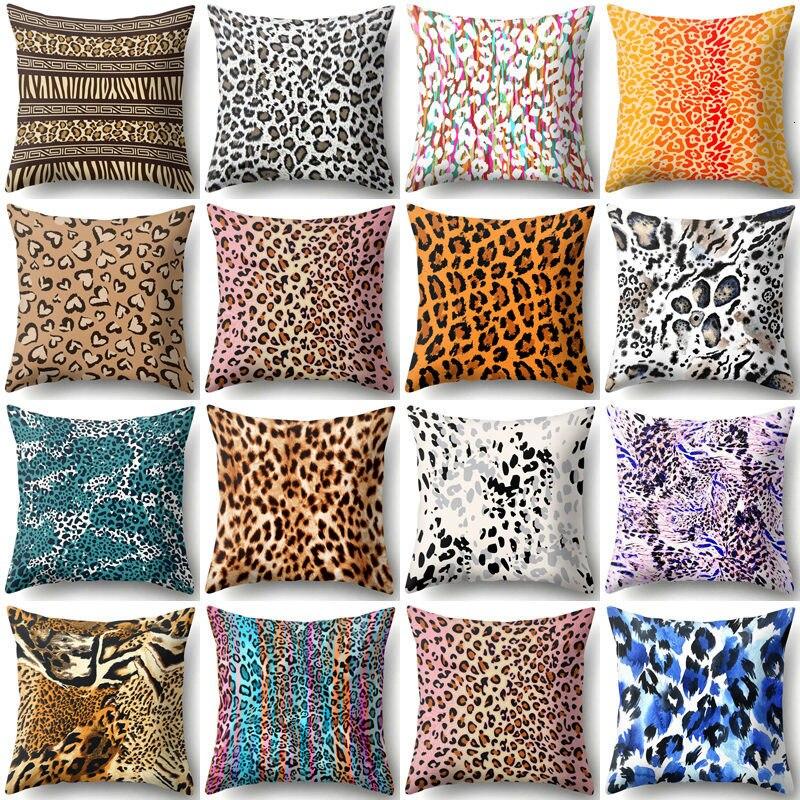 1 шт. 45*45 см чехол для подушки с леопардовым принтом животного, диванная поясная наволочка, домашний декор, наволочки для подушек Housse De Coussin ...