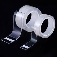 Wiederverwendbare Band Transparent Scotch Doppelseitiges Gesicht Nano Wasserdichte Abreinigbare Bänder Adhesive Home Verbesserung Gadget Aufkleber 3 m