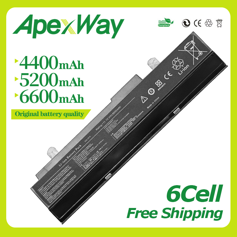 Apexway 11.1V Black Laptop battery For Asus Eee PC <font><b>1015</b></font> 1015P 1015PE 1016 1016P 1215 A31-<font><b>1015</b></font> <font><b>A32</b></font>-<font><b>1015</b></font> AL31-<font><b>1015</b></font> PL32-<font><b>1015</b></font> image