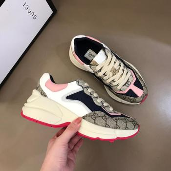 Designer Brand Man Luxury Sneakers Gucci- Shoes Men&Women High Quality Genuine Leather Fashion slip on White Shoe for Men 06