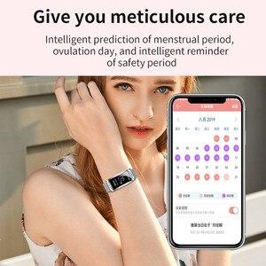 Image 2 - Smartwatch Neue F28 Smart Weiblichen Uhr Frauen Damen Ip67 Herz Rate Blutdruck Sauerstoff Verbunden