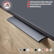 Kostenloser Versand Tür pull schublade schrank möbel griffe schwarz für schränke und schubladen 6 Größen 7 Farben Erhältlich für Wahl