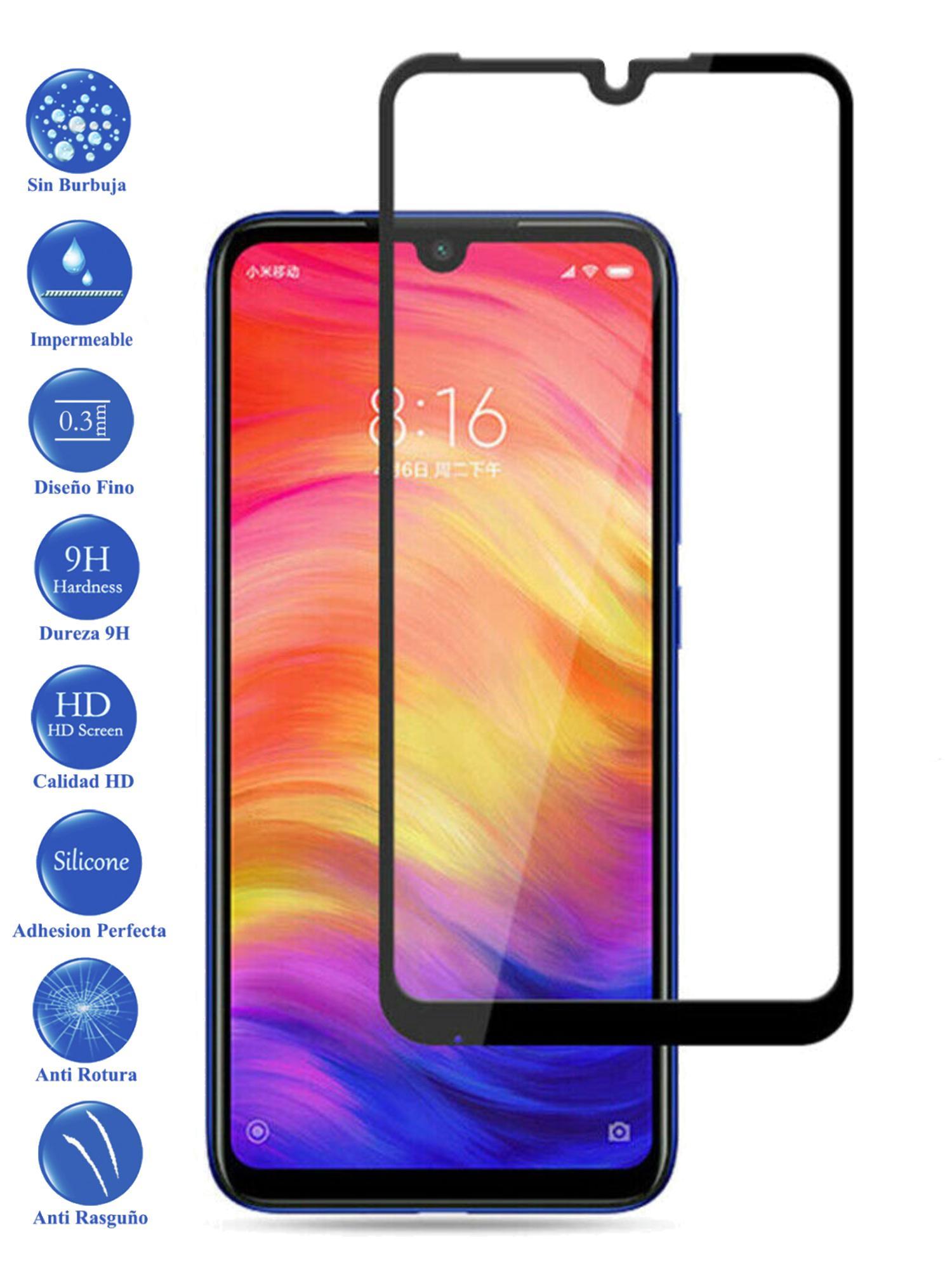 Protector De Cristal Templado Completo 3D 9H Para Xiaomi Redmi 7 Elige Color