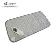 Almohadilla calefactora eléctrica ultrasónica para aliviar el dolor de cintura y espalda, calentador corporal Extra XL King Size, 30x60CM, 220V 240V, 100W, enchufe europeo