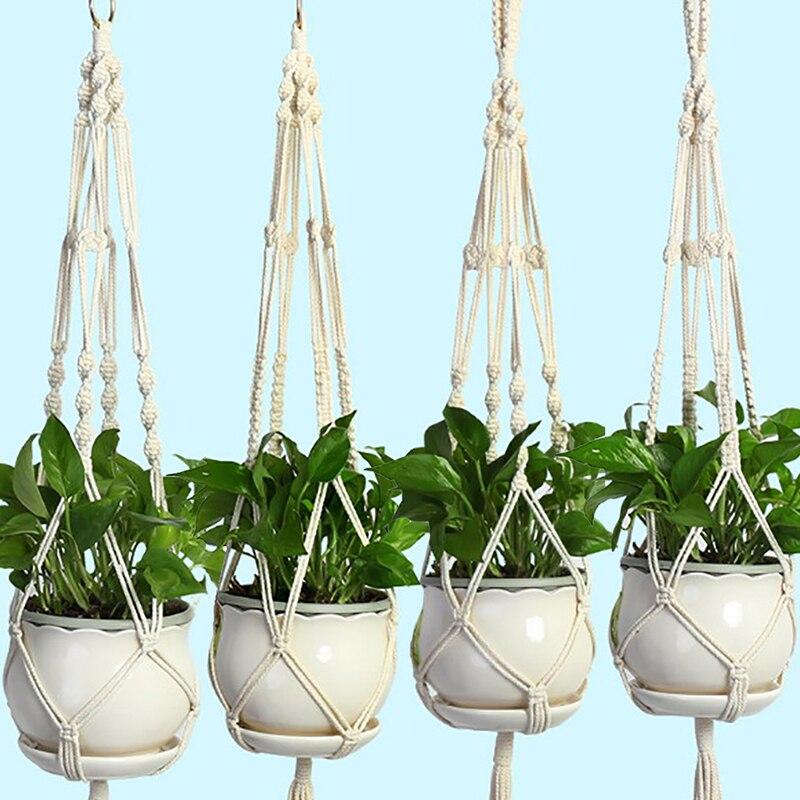 Maceta de 1,05 m, colgador de macramé para planta, maceta colgante, cesta de yute trenzada Maceta para flor de autorriego, plantador de pared Vertical apilable, duradera para jardín, balcón GQ999