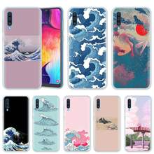 Wave Art Japanese Case for Samsung Galaxy A50 A20e A80 A70 A60 A40 A30 A10 M40 M30 M20 M10 A6 A8 Plus 2018 TPU Phone Cover Casos(China)