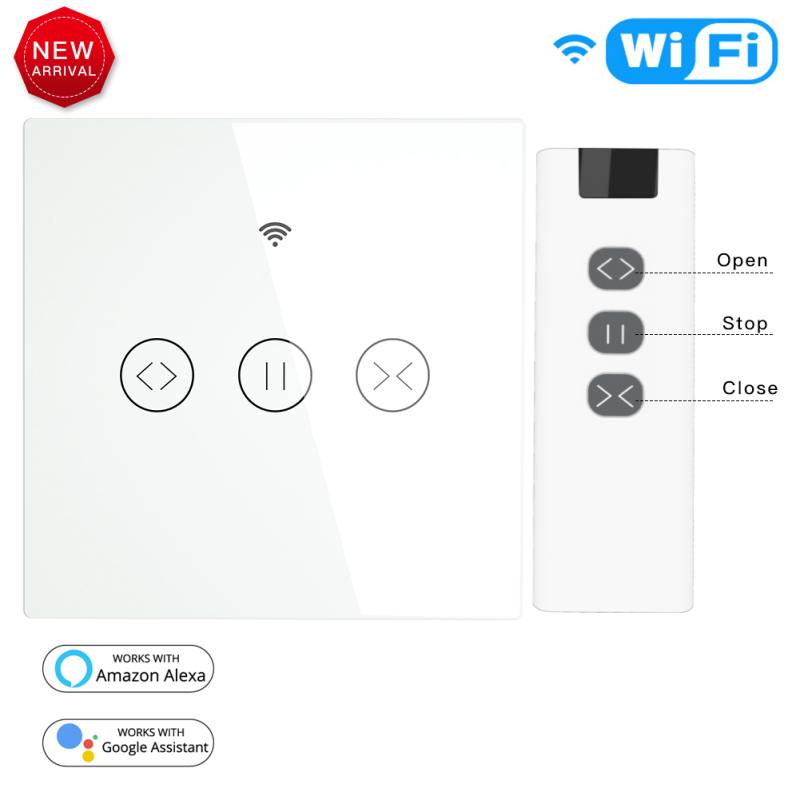 App  Wifi  Smart Touch Curtain Switch Voice Control By Alexa Echo Google Phone Control For Electric Curtain Motor