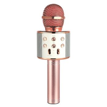 Wireless Portable Handheld Bluetooth Karaoke Microphone Singing Machine цена 2017