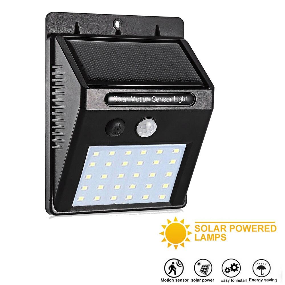Waterproof Solar Lamp PIR Motion Sensor Wall Light Outdoor Solar Light Energy Saving Street Yard Path Home Garden Security Lamps