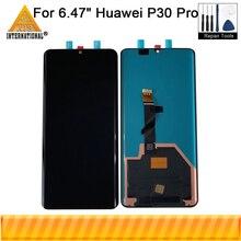 """6.47 """"מקורי Supor Amoled Axisintern עבור Huawei P30 פרו VOG L29 LCD מסך תצוגה + מגע לוח Digitizer עם טביעת אצבע"""