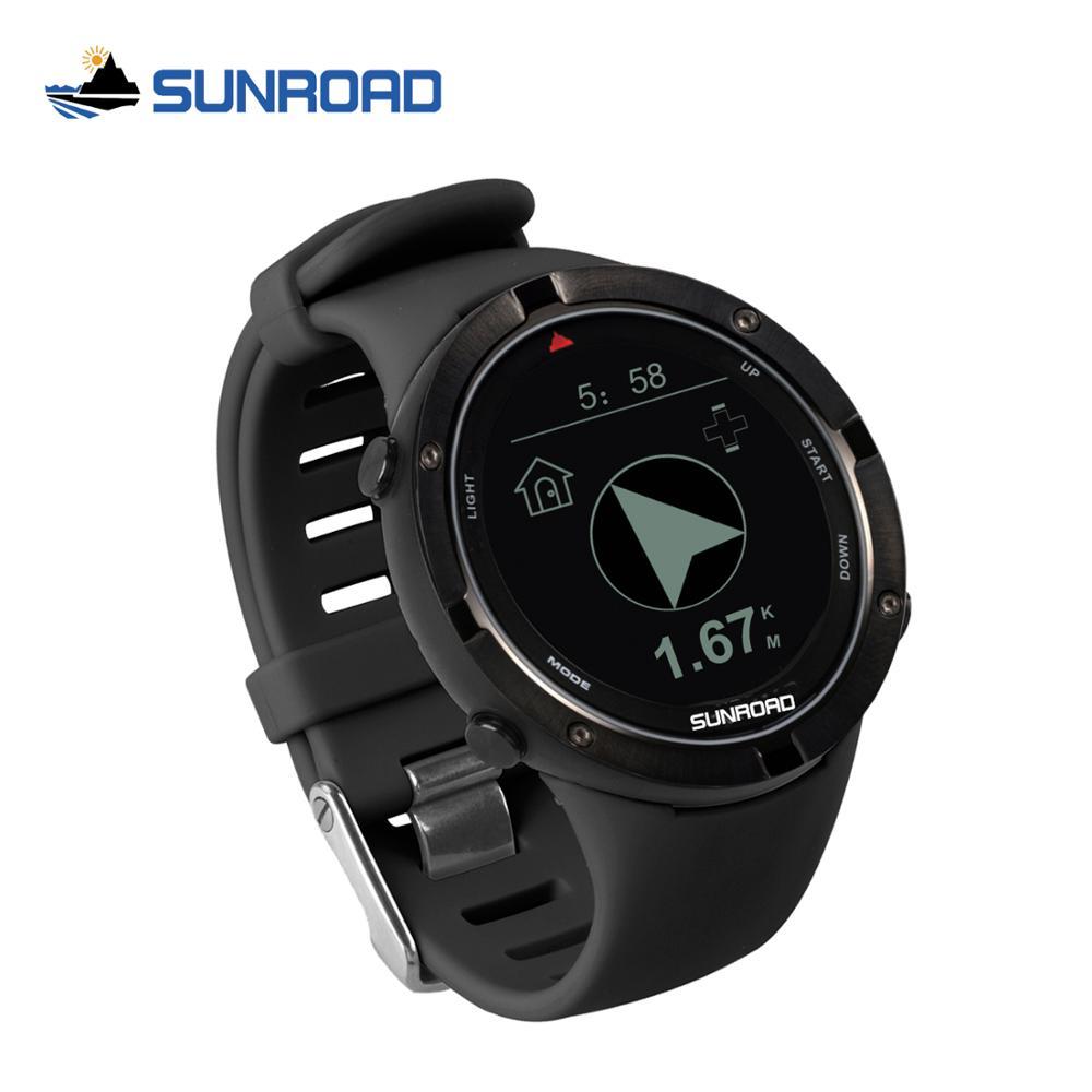 Спортивные Смарт-часы Sunroad с GPS, пульсометром, высотомером, цифровые наручные часы, водонепроницаемые уличные часы с Usb зарядкой для плавания...
