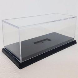 Estojo acrílico à prova de poeira, armazenamento transparente para modelo de carro, brinquedo, caixa 10cm x 5cm x 6cm