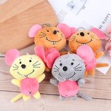 1 шт., милые плюшевые игрушки с мышкой, Маленькая подвеска, детский подарок, креативные Kawaii мыши, мягкая игрушка для детей, горячая Распродажа, 11 см