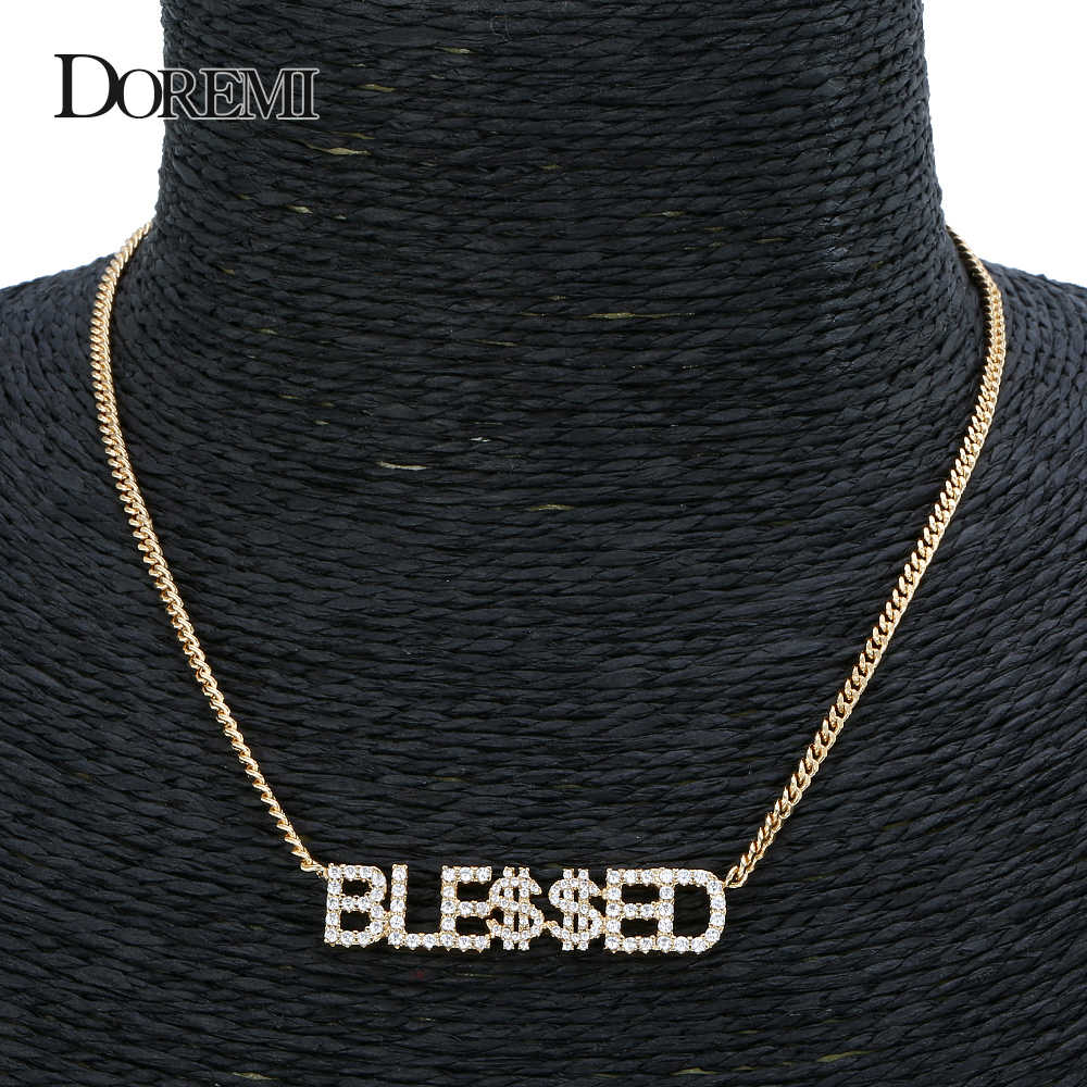 Doremi 9mm pingente de cristal letras colar para mulheres personalizado jóias nome personalizado colares números personalizado zircônia pingente