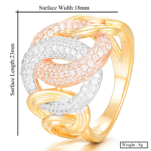 Image 5 - GODKI Luxury Link Chain Bold Rings with Zirconia Stones 2020 Women Engagement Party Jewelry High Quality