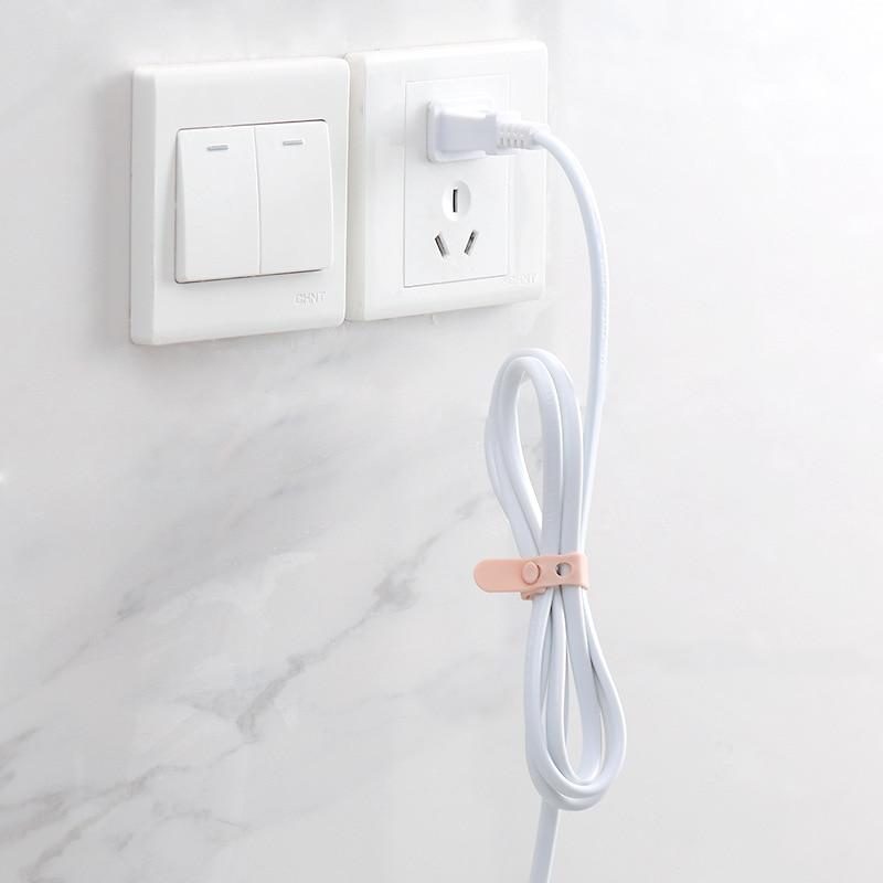 Упаковка из 4 силиконовых ремешков шнур менеджер наушники зарядный кабель анти-потеря обвязки Творческий кабель для хранения данных пряжка