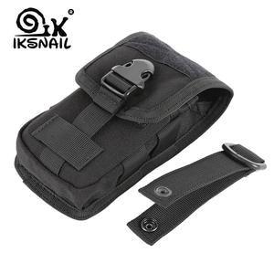 IKSNAIL Phone-Holder Molle-Bag Sport-Waist-Belt-Case EDC Army Hunting Tactical Outdoor