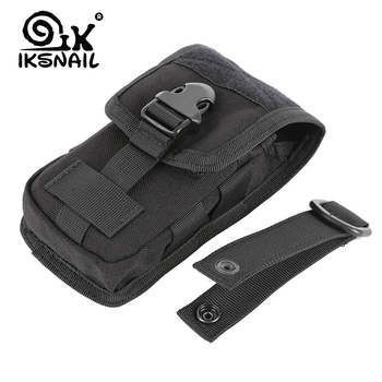 IKSNAIL New Hunting Camouflage Molle Bag Tactical Army Phone Holder Sport Waist Belt Case Waterproof EDC Sport Outdoor Camo Bags 1