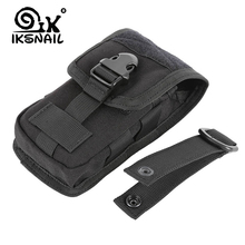 IKSNAIL, nueva bolsa Molle de camuflaje para caza, soporte para teléfono militar táctico, riñonera deportiva resistente al agua EDC, bolsas de camuflaje para deportes al aire libre