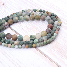 Frosted Indian Agate Natural?Stone?Beads?For?Jewelry?Making?Diy?Bracelet?Necklace?4/6/8/10/12?mm?Wholesale?Strand