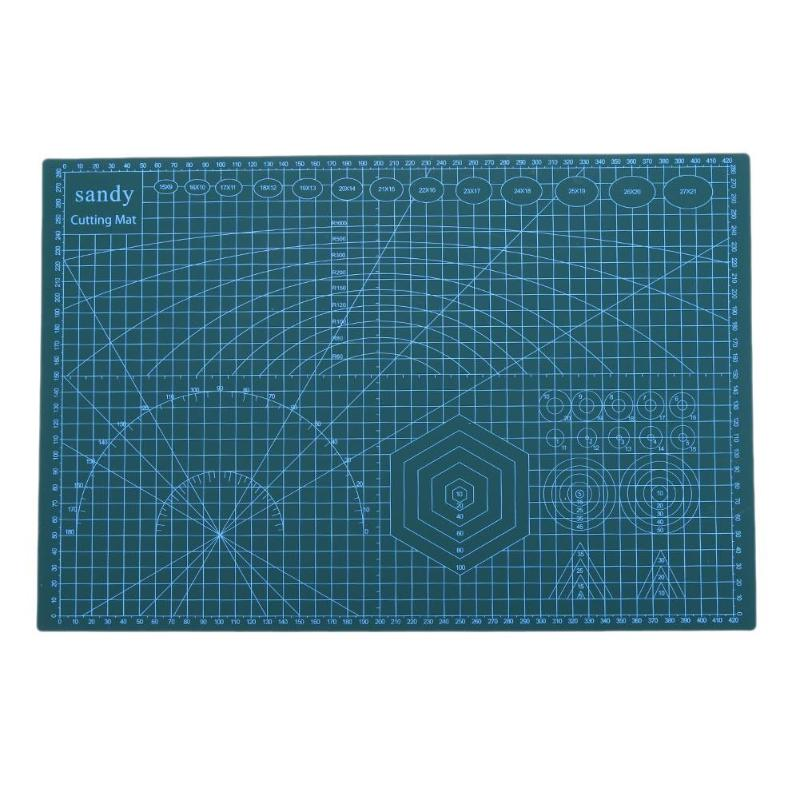 A3 PVC DIY Cutting Board Mat Pad Double Side Self-healing Non Slip DIY Cutting Mat Patchwork Mat School Stationery Supplly Green