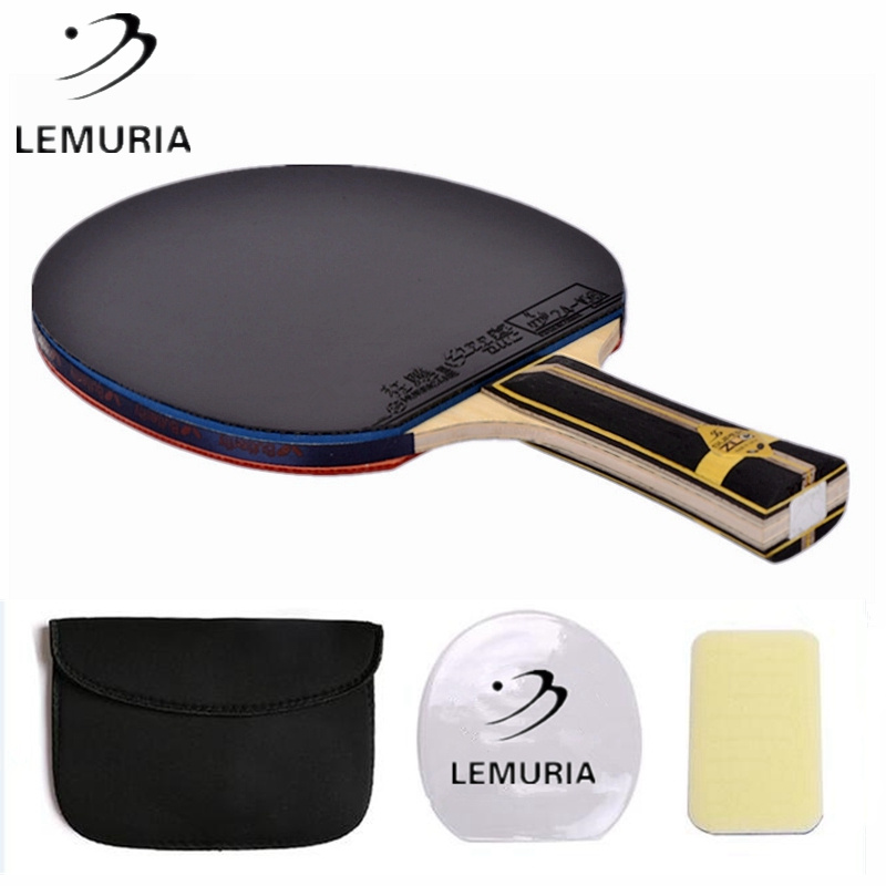 Lemuria Best Quality Super ZLC Carbon Fiber Table Tennis Racket With Pimples-in Table Tennis Rubber Super Zlc Ping Pong Blade