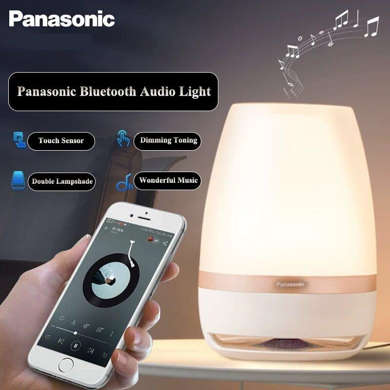 Falante Panasonic Sensor de Toque Bluetooth Speaker Luz LED Night Light Música Inteligente de Controle Remoto Sem Fio Lâmpada de Mesa