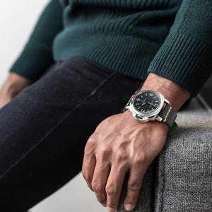 Image 5 - MAIKES Handmade włoska skóra zegarek pasek 18mm 19mm 20mm 21mm 22mm 24mm zegarek w starym stylu pasek dla Panerai Omega IWC Watchband