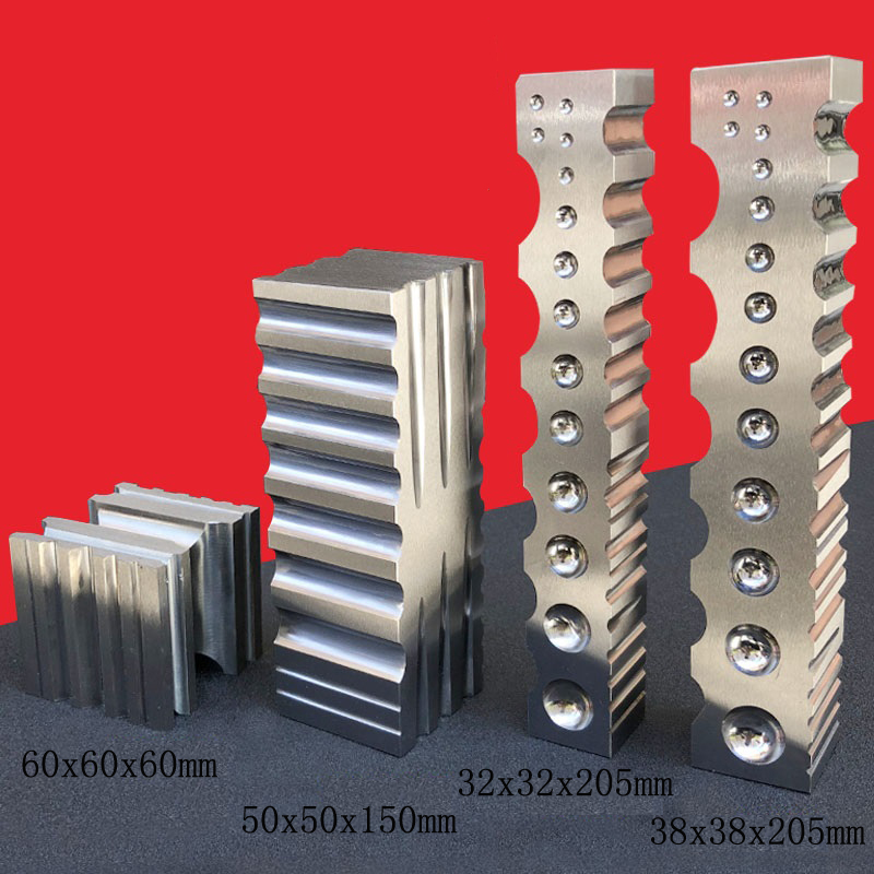 Stainless Steel ChannelDapping Block Square Metal Forming Cavities Grooves Square Dapping Block
