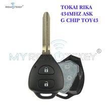 Пульт дистанционного управления remtekey tokai rika с 2 кнопками