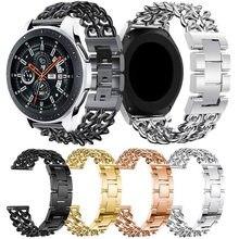 Bracelet en acier inoxydable de 22mm, pour Samsung Galaxy watch 3 45mm gear s3 46mm Huawei gt honour pour Amazfit