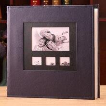 6 Cal Foto 600 kieszonkowy Album fotograficzny PU skórzany pokrowiec o dużej pojemności rodzina dzieci wzrost dziecka pamięć ślubna wstaw albumy