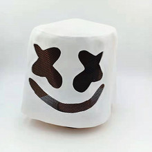 Party Bar Electronic Syllable Cosplay Accessories DJ Marshmello Mask Full Face Latex Prop Helmet Masks