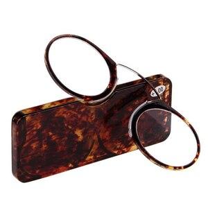 Clip Nose Mini Reading Glasses Men Women Readers Glasses Prescription Eyeglasses Without Sideburns Pince-nez +1.0 +1.5 To +3.5