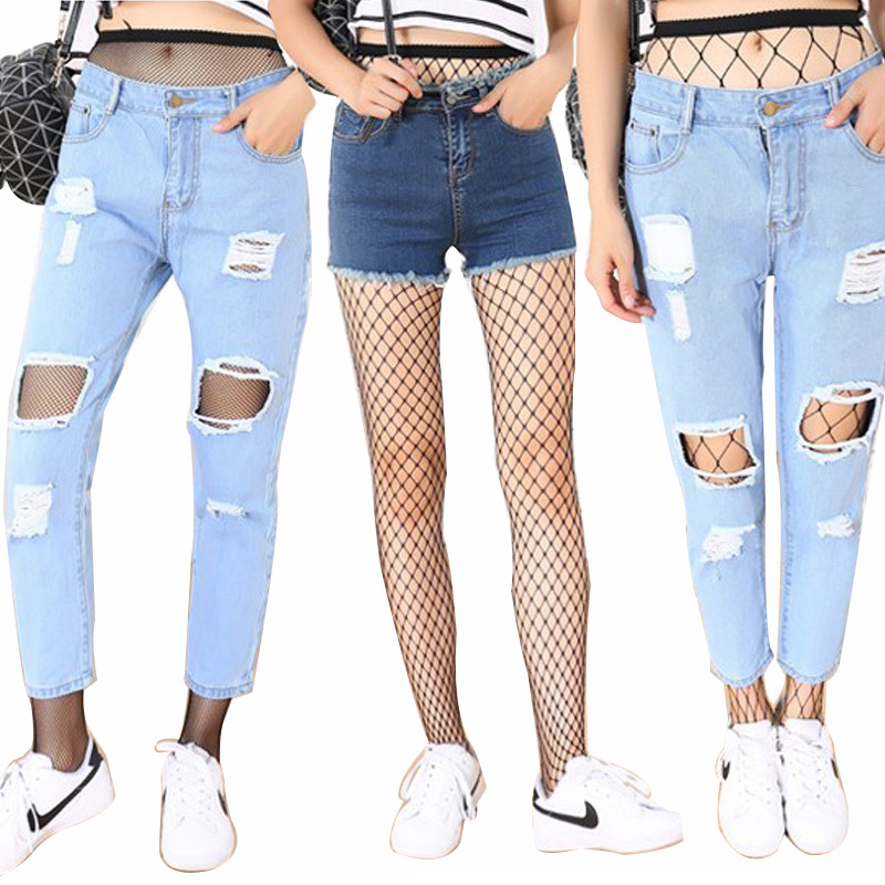 Sexy Tights for Women Pantyhose Fishnet Hollow Out Mesh Transparent Stocking Party Club Slim Thigh High Tights Hosiery