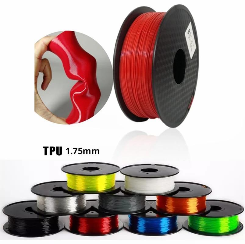 3D-принтеры нити 1,75 мм 500g/250g ТПУ Гибкая нить 3D Пластик волоконного принтера полиграфические материалы Серый Черный красного цвета