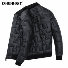 COODRONY Brand Duck Down Jacket Men Fashion Striped Casual C