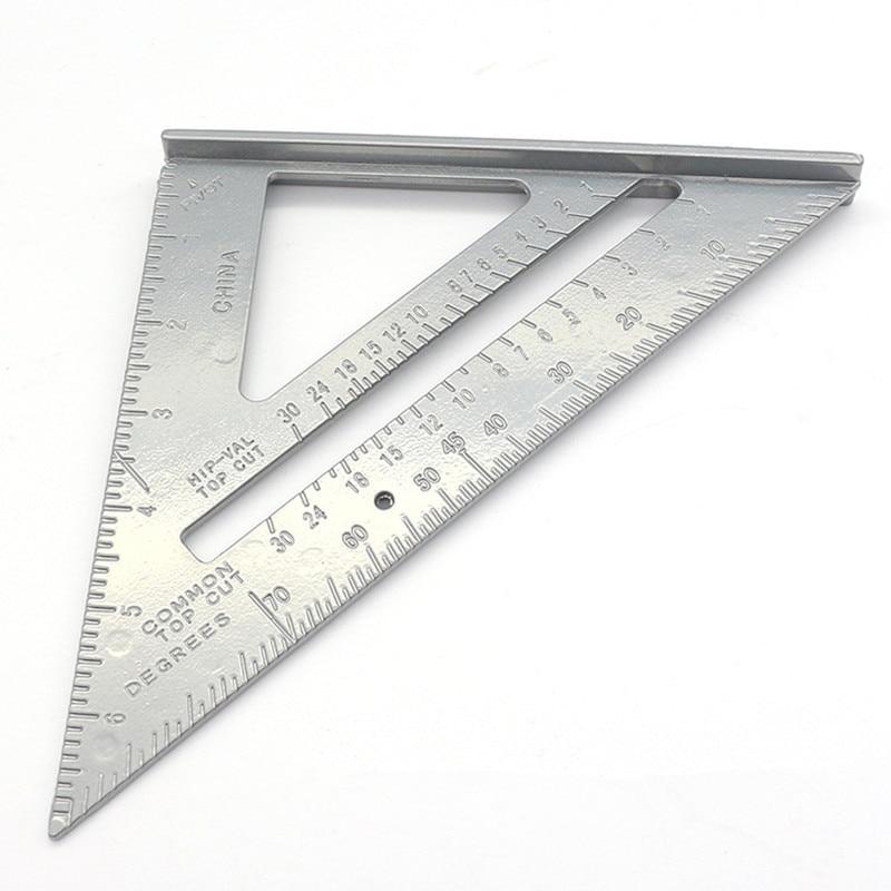 Измерительная линейка, транспортир из алюминиевого сплава с треугольным и квадратным сечением, 7 дюймов, измерительные инструменты