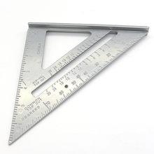 7 Polegada liga de alumínio medição régua calibres velocidade praça telhadura triângulo ângulo transferidor trammel ferramentas de medição