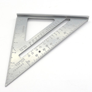 7 Inch Aluminum Alloy Measuring Ruler Gauges Speed Square Roofing Triangle Angle Protractor Trammel Measuring Tools