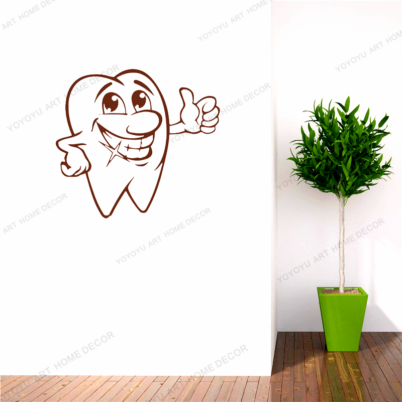 YOYOYU Zahnarzt Lächeln Dental Klinik Logo Wand Aufkleber Fenster Spezielle Design Zahn Für Kinder Wand Aufkleber Innen WQ18