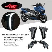 Luces led de señalización de giro para Yamaha TMAX 530, luz trasera de freno, Mark, SX, DX, intermitente, 2017-2019