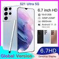 Последняя версия S21 + Ультра 6,7-дюймовый Смартфон Android 11 16 Гб ОЗУ 512 Гб ПЗУ две sim-карты разблокированный мобильный телефон MTK 6799 Deca Core