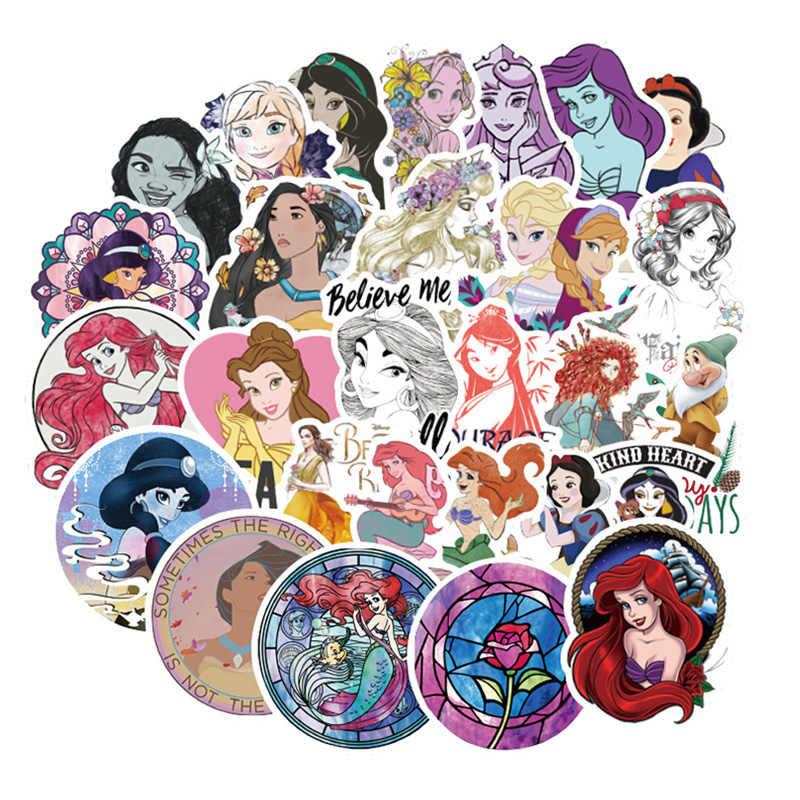 100 قطعة ديزني الأميرة ملصقات جميلة ملصق مضاد للمياه ل سيارة الأمتعة حقيبة ديكور لعب للأطفال الكمبيوتر المحمول