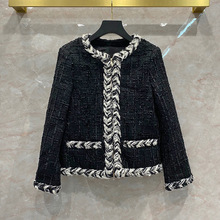 2020 Autumn Winter Women's High Quality O-neck Tweed jackets Chic OL elegant coat C601
